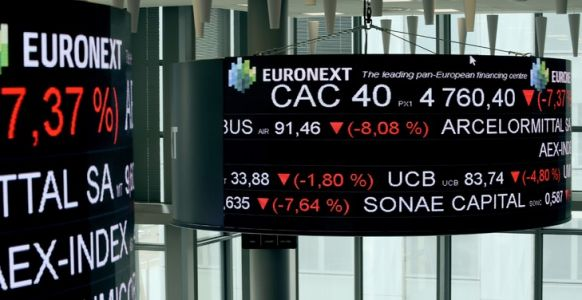 La Bourse de Paris finit en forte hausse de 3,36% à 5.022,38 points