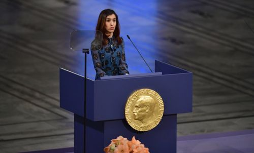 "Nobel: Nadia Murad réclame une ""protection internationale"" des Yazidis"