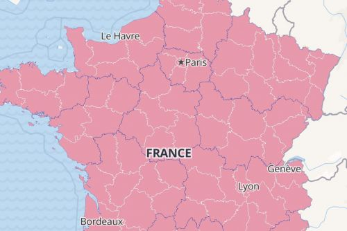 CARTE COVID-19 : contamination en France, zone rouge, Europe