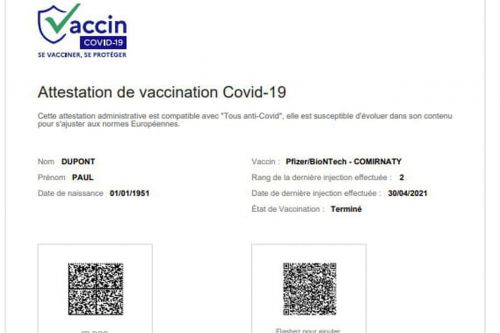 Attestation de vaccination Covid : en France, comment l'avoir ?