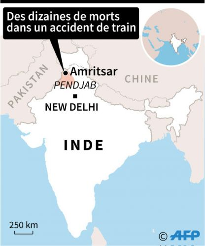 Un train percute une foule en Inde: une soixantaine de morts